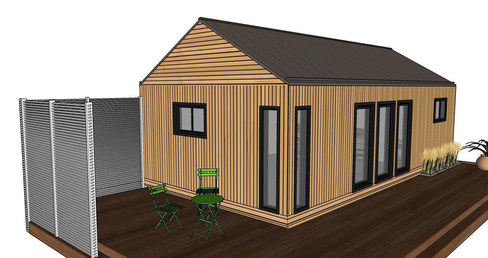 annexe maison bois cette maison type ressemble la prcdente la diffrence essentielle tant. Black Bedroom Furniture Sets. Home Design Ideas