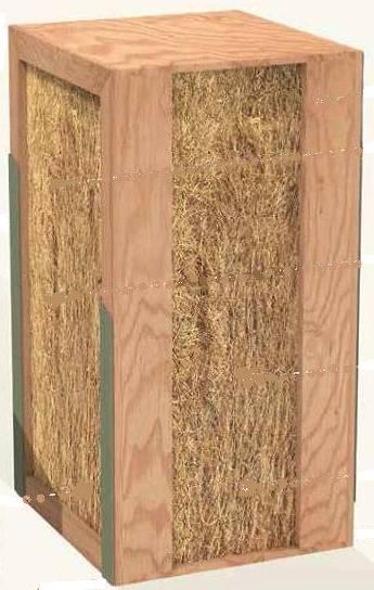 Maison en paille construction passive panneaux de paille for Composition mur exterieur