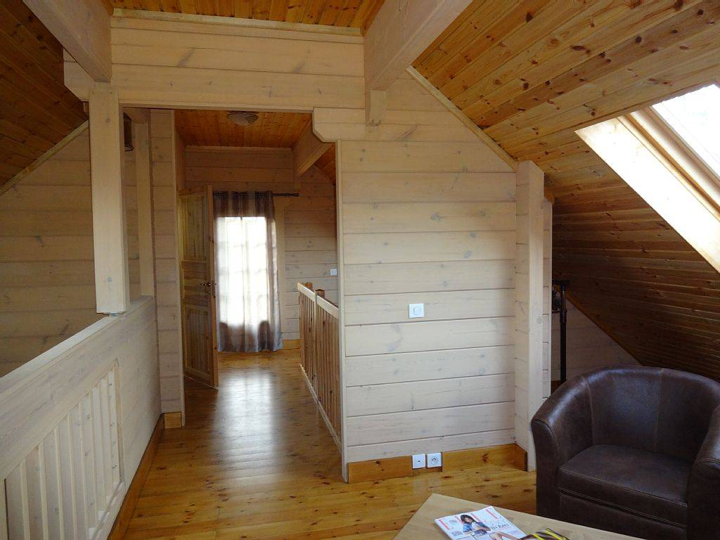 Photo mezzanine chalet en bois