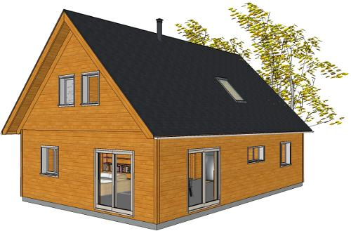 Plan maison traditionnelle 125 m²