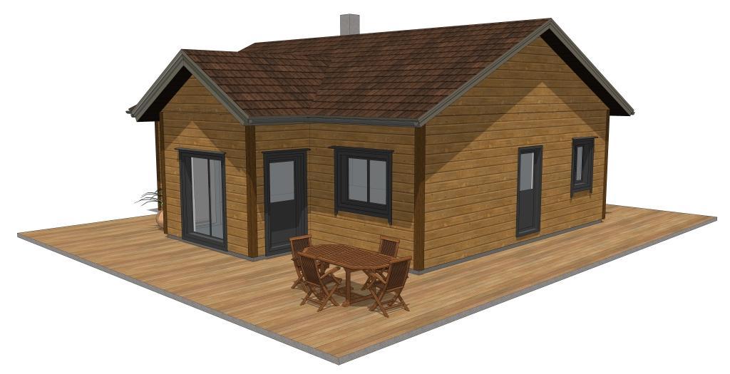 maisons contemporaines de plain pied. Black Bedroom Furniture Sets. Home Design Ideas