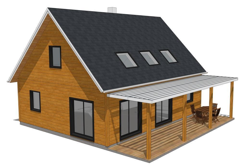 Mod les de maisons classiques avec tage for Maison bois classique