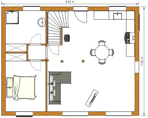 Maison en kit bois tarif ventana blog - Plan de maison rez de chaussee ...