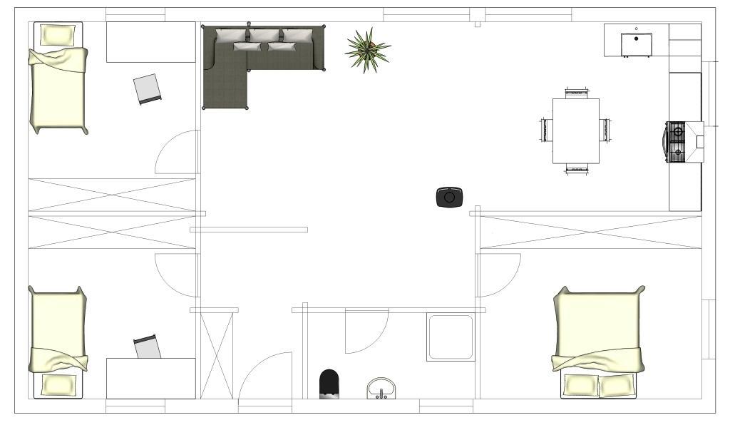 Hauteur maison plain pied affordable surface de plancher for Hauteur ideale plan de travail cuisine