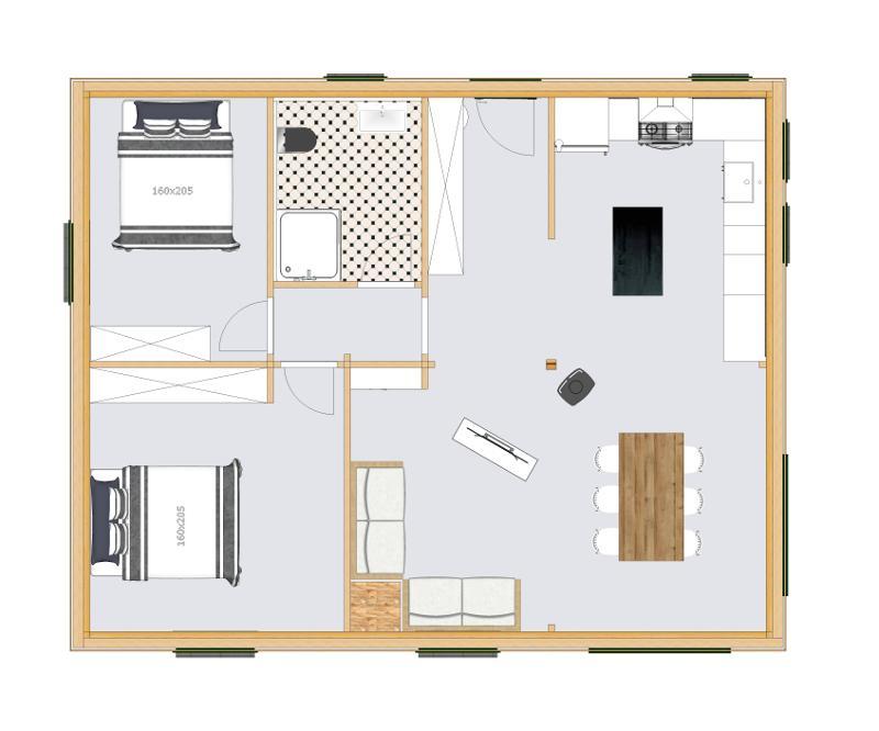 Plan De Maison Traditionnelle Garrabet 4