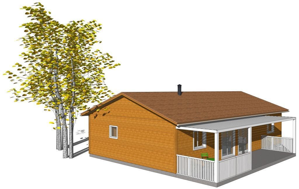Mod les maisons bois classiques de plain pied for Maison bois classique