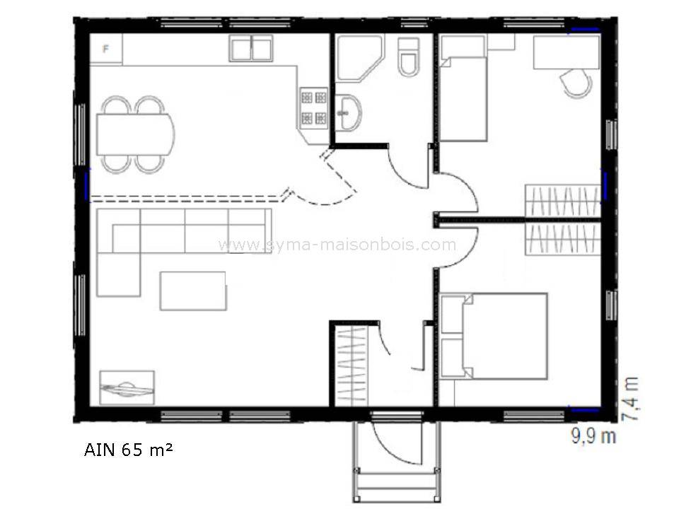 Plan maison bois for Fabricant de plan de maison