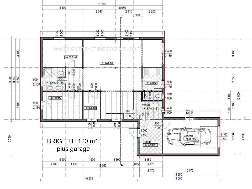 Mod les maisons bois en kit for Concevoir son propre plan de maison