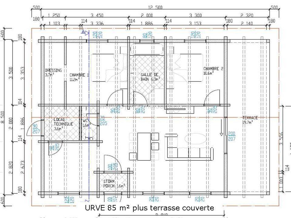 maison bois plain pied. Black Bedroom Furniture Sets. Home Design Ideas