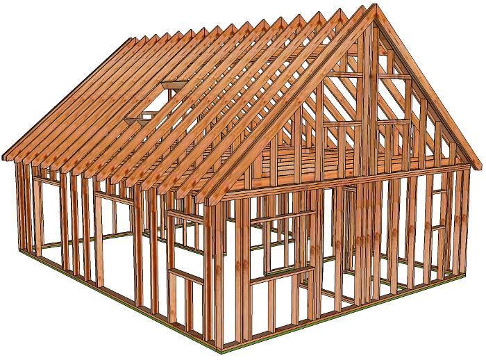 Composition kit maison ossature bois for Kit ossature bois