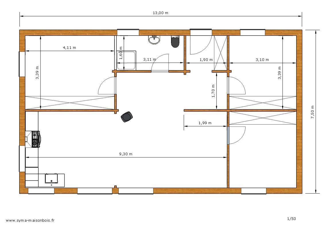plan de maison bois plan et faades dune conception cologique ecop habitat with plan de maison. Black Bedroom Furniture Sets. Home Design Ideas