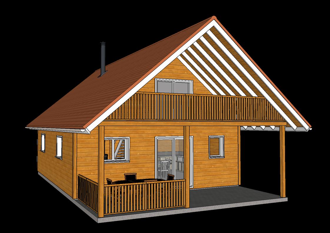 chalet bois en kit ancelle. Black Bedroom Furniture Sets. Home Design Ideas