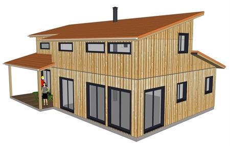 maisons contemporaines avec tage. Black Bedroom Furniture Sets. Home Design Ideas